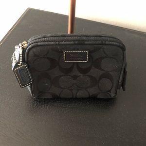 COACH - black signature small bag up case